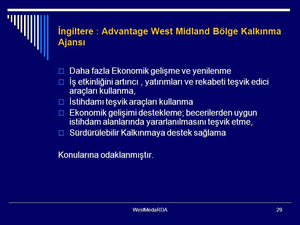 İngiltere : Advantage West Midland Bölge Kalkınma Ajansı