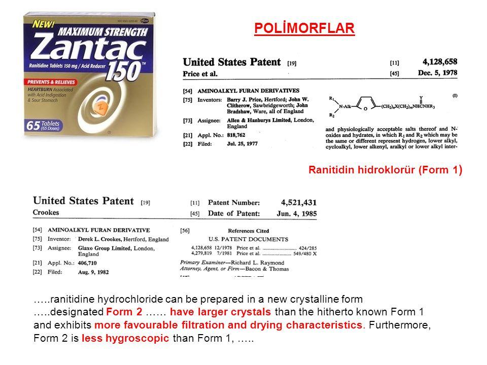POLİMORFLAR Ranitidin hidroklorür (Form 1)