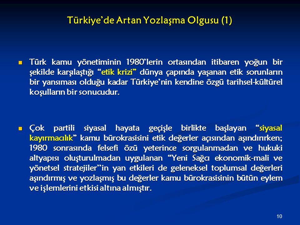 Türkiye'de Artan Yozlaşma Olgusu (1)