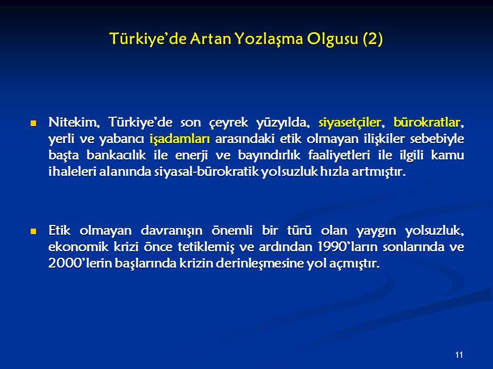 Türkiye'de Artan Yozlaşma Olgusu (2)