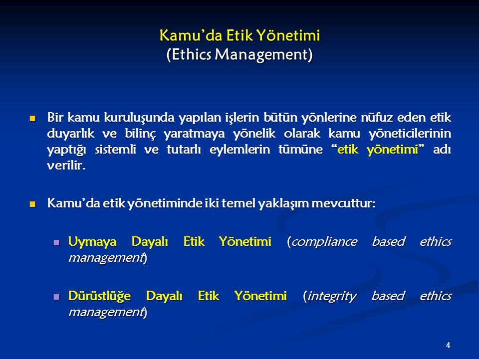Kamu'da Etik Yönetimi (Ethics Management)