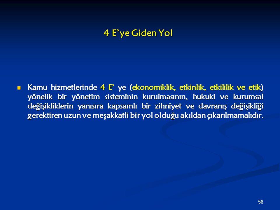 4 E'ye Giden Yol