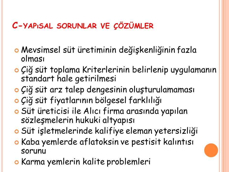 C-yapısal sorunlar ve çözümler