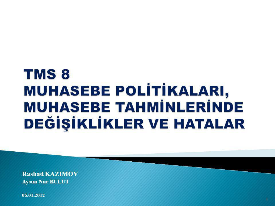 Rashad KAZIMOV Aysun Nur BULUT 05.01.2012