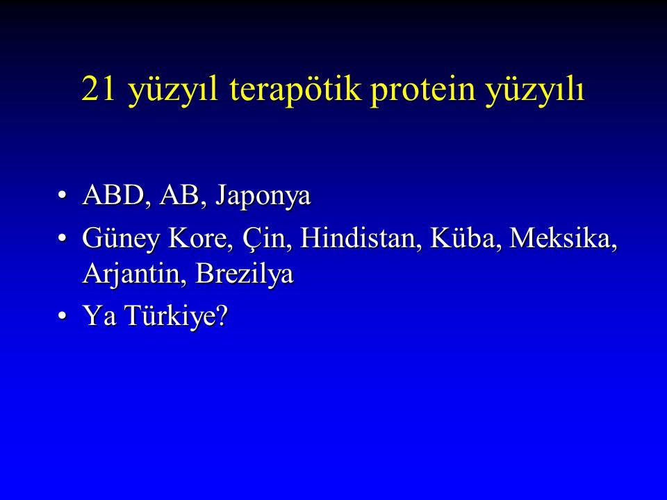 21 yüzyıl terapötik protein yüzyılı