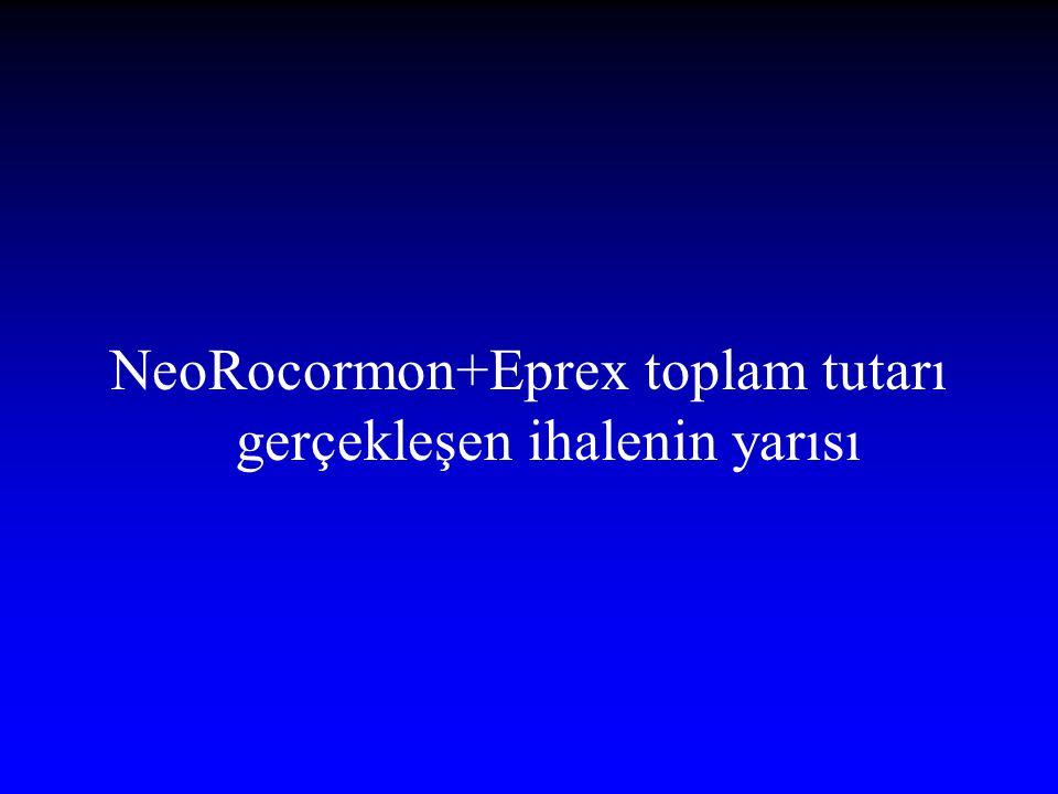 NeoRocormon+Eprex toplam tutarı gerçekleşen ihalenin yarısı