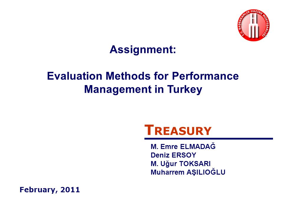 Assignment: Evaluation Methods for Performance Management in Turkey