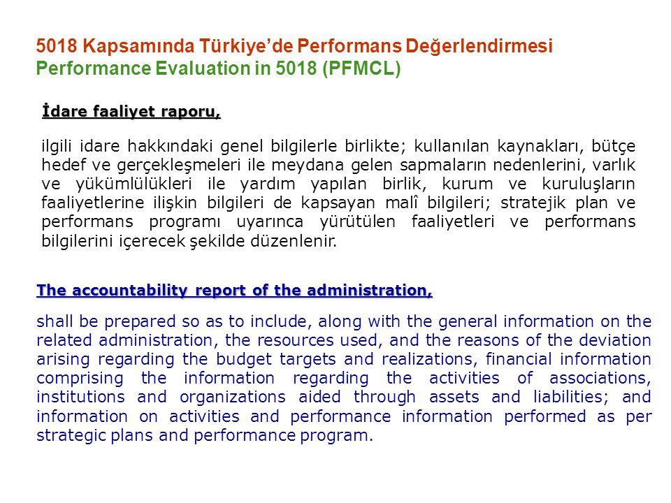 5018 Kapsamında Türkiye'de Performans Değerlendirmesi Performance Evaluation in 5018 (PFMCL)