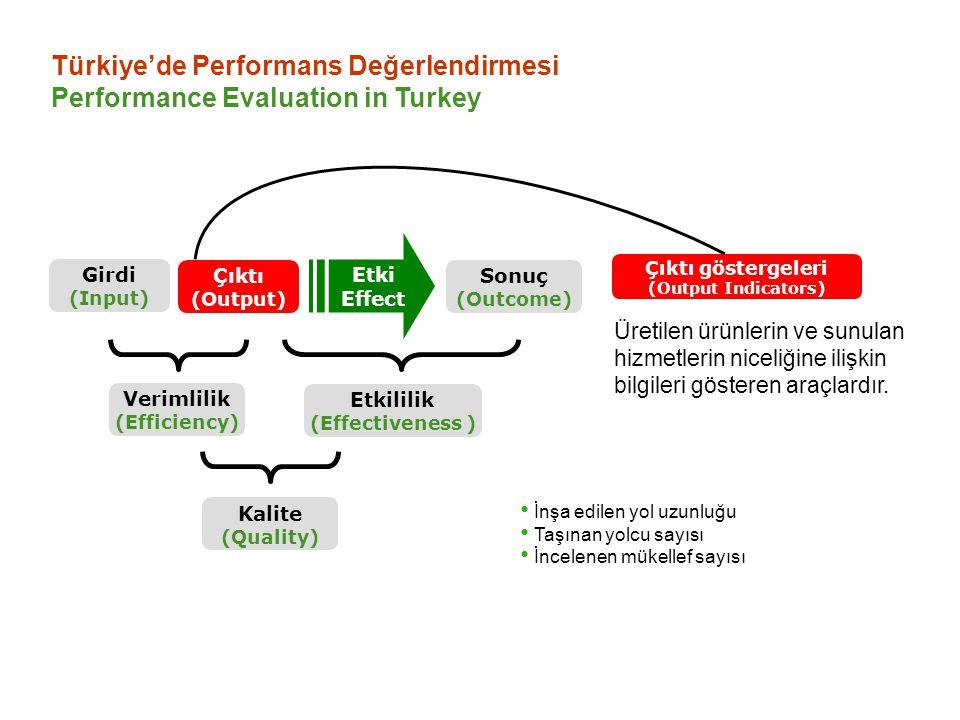 Türkiye'de Performans Değerlendirmesi Performance Evaluation in Turkey