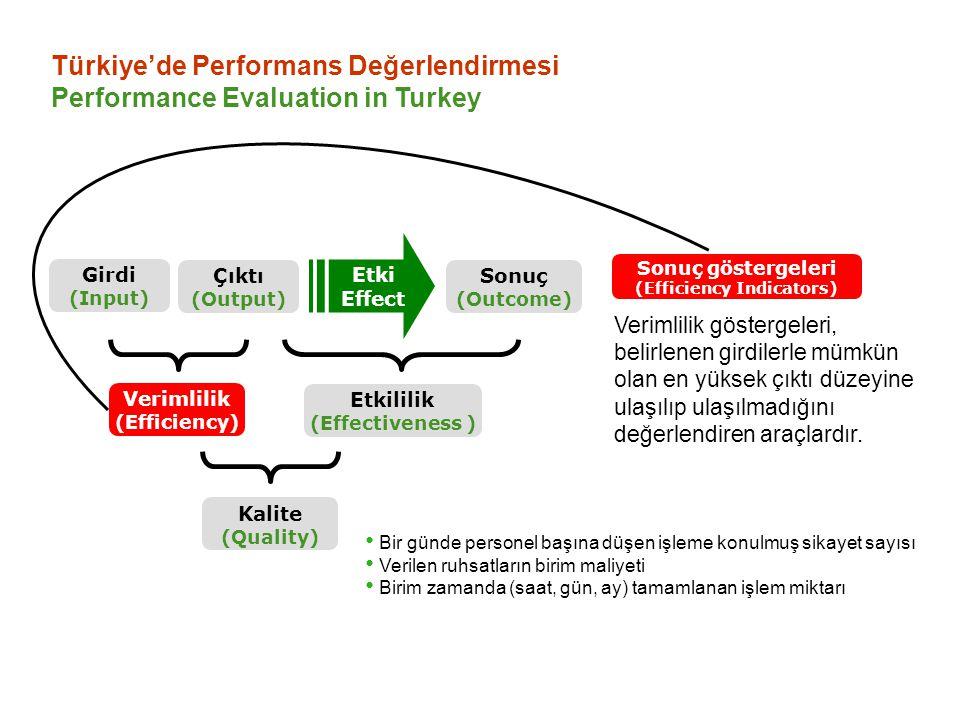 (Efficiency Indicators)