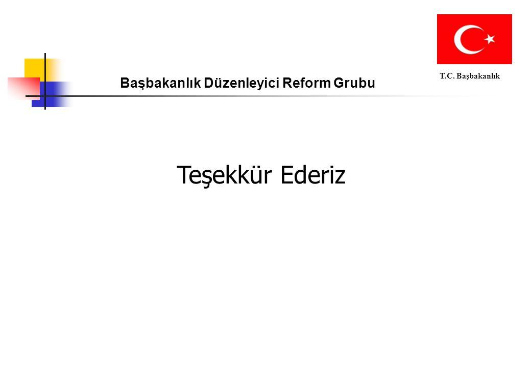 T.C. Başbakanlık Başbakanlık Düzenleyici Reform Grubu Teşekkür Ederiz