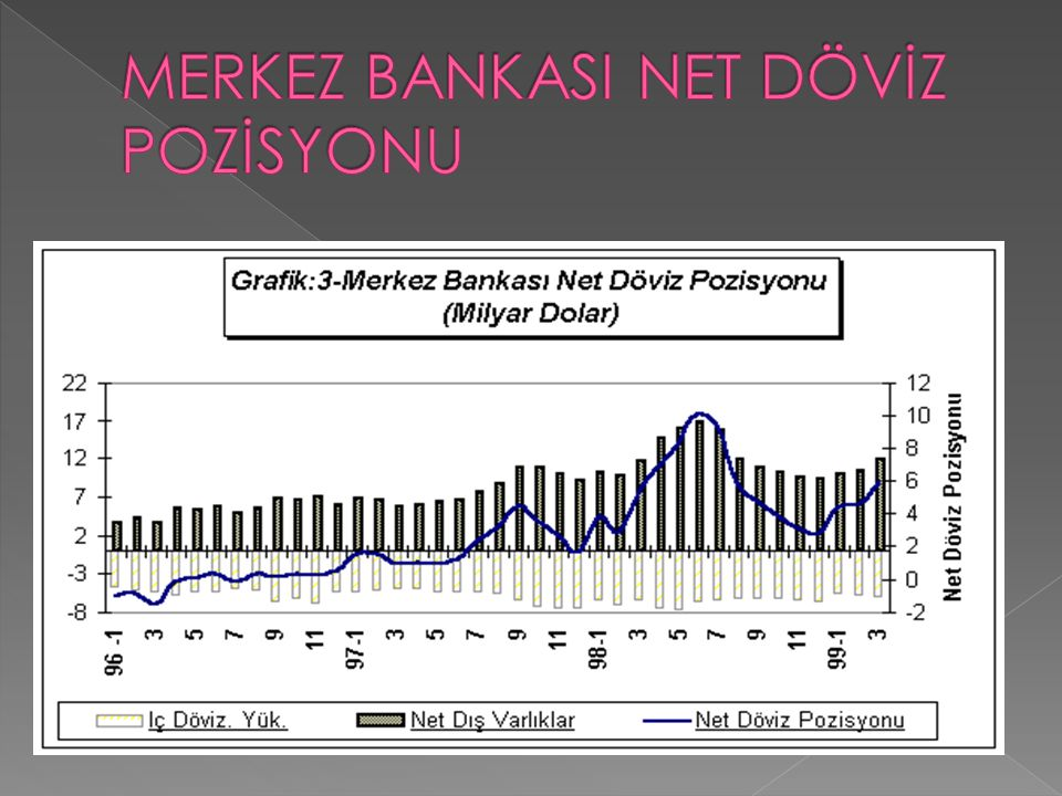 MERKEZ BANKASI NET DÖVİZ POZİSYONU