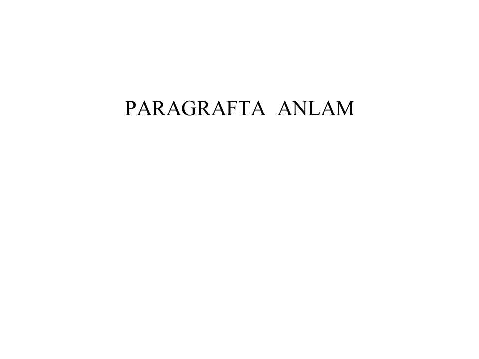 PARAGRAFTA ANLAM