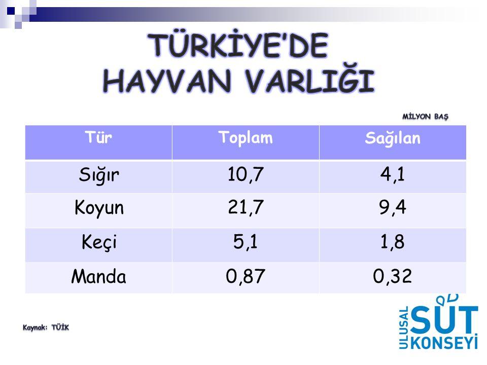 Türkİye'de Hayvan VarlIğI