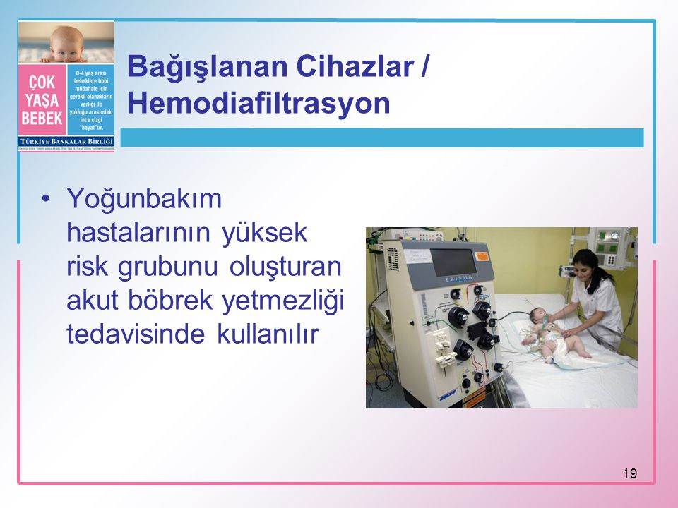 Bağışlanan Cihazlar / Hemodiafiltrasyon