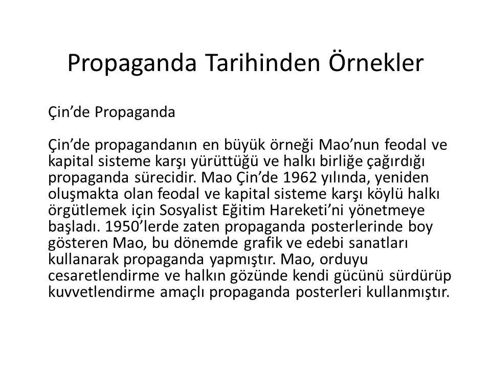 Propaganda Tarihinden Örnekler