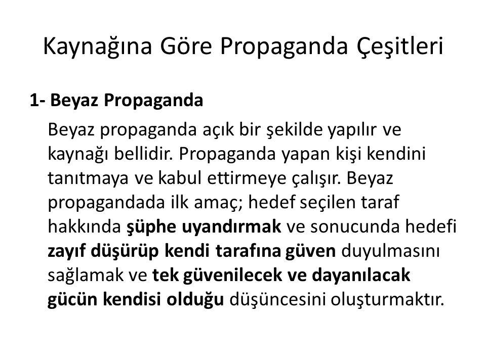 Kaynağına Göre Propaganda Çeşitleri
