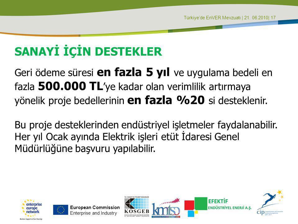 Türkiye'de EnVER Mevzuatı | 21. 06.2010| 17