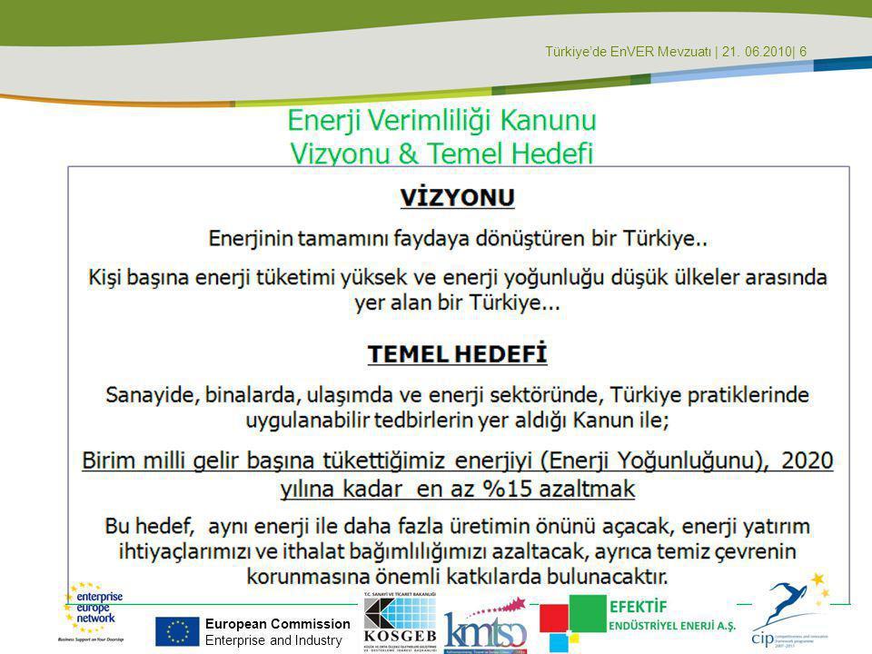 Türkiye'de EnVER Mevzuatı | 21. 06.2010| 6
