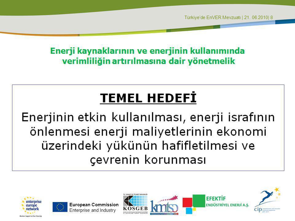Türkiye'de EnVER Mevzuatı | 21. 06.2010| 8