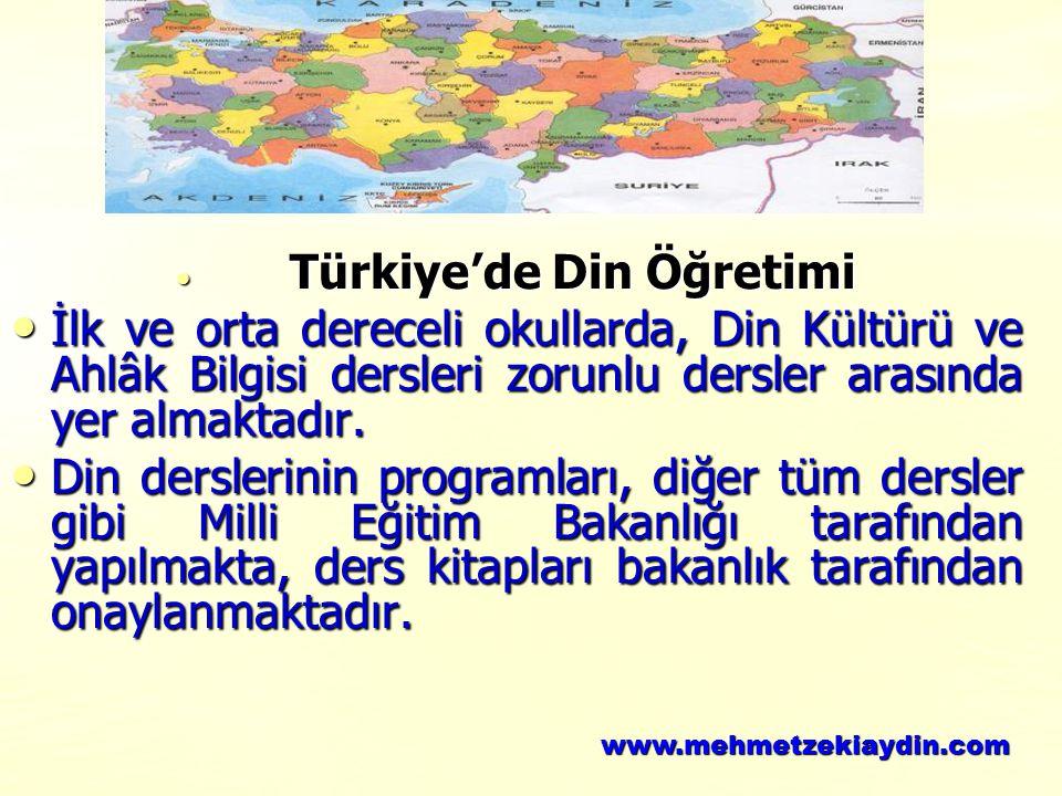 Türkiye'de Din Öğretimi