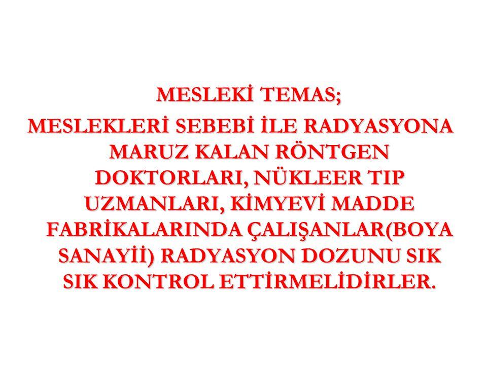 MESLEKİ TEMAS;