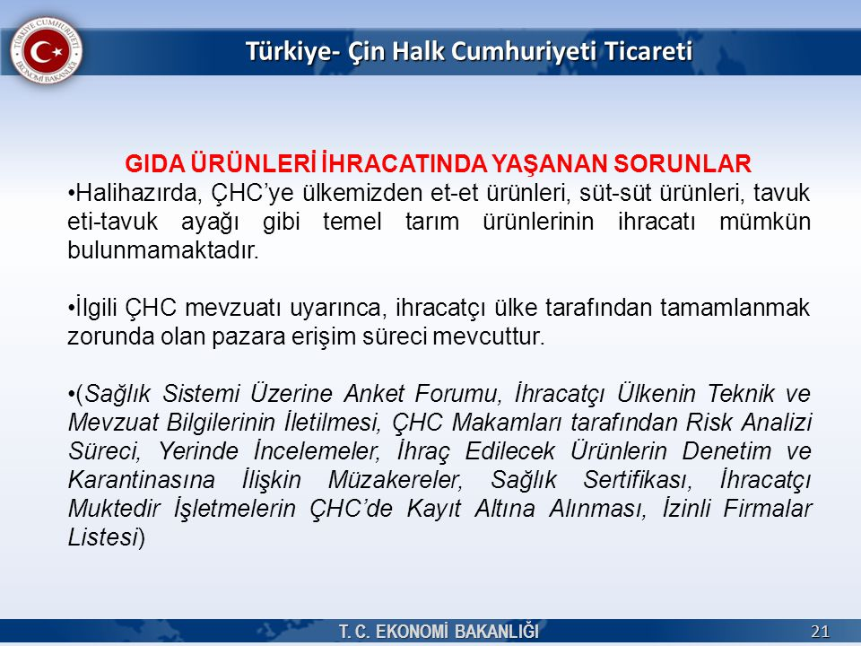 Türkiye- Çin Halk Cumhuriyeti Ticareti