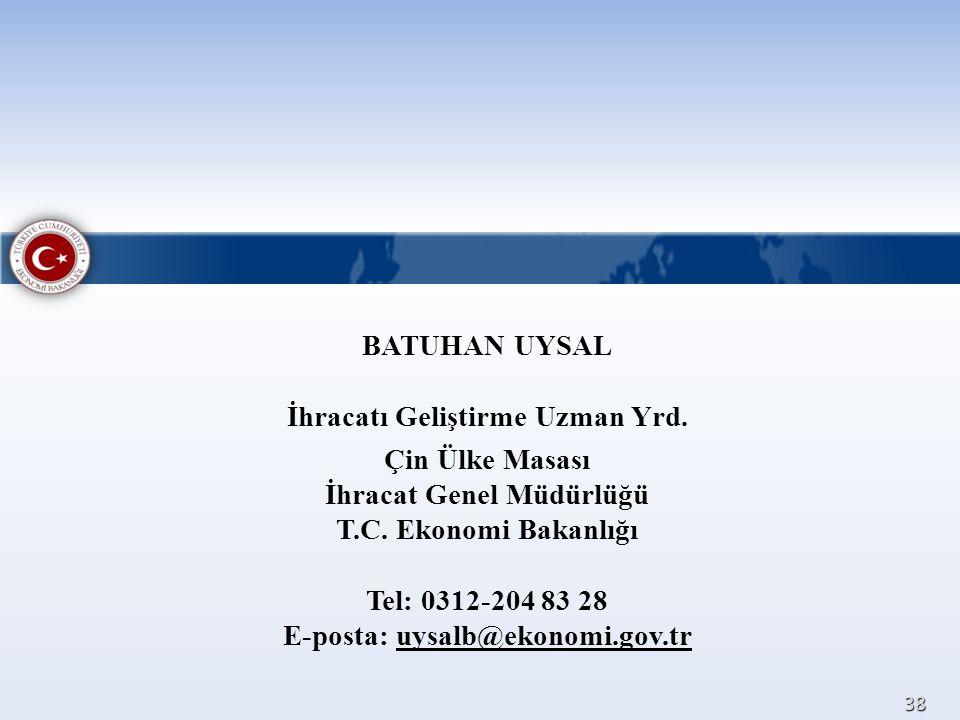 BATUHAN UYSAL İhracatı Geliştirme Uzman Yrd
