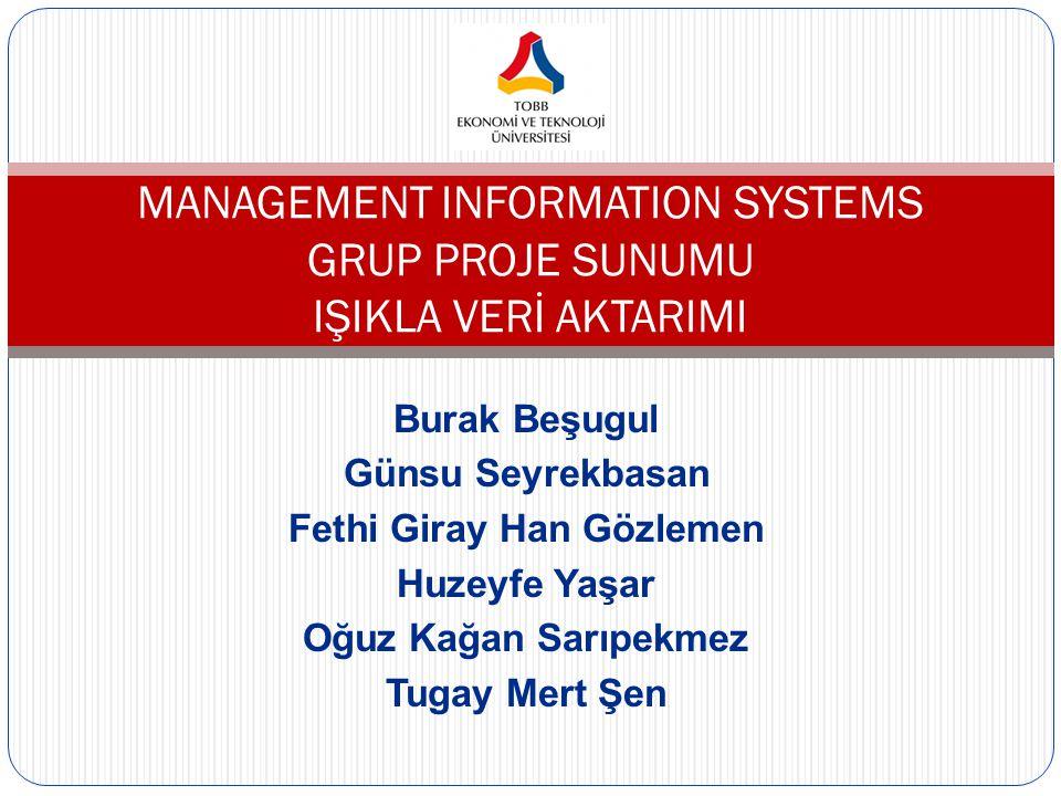MANAGEMENT INFORMATION SYSTEMS GRUP PROJE SUNUMU IŞIKLA VERİ AKTARIMI