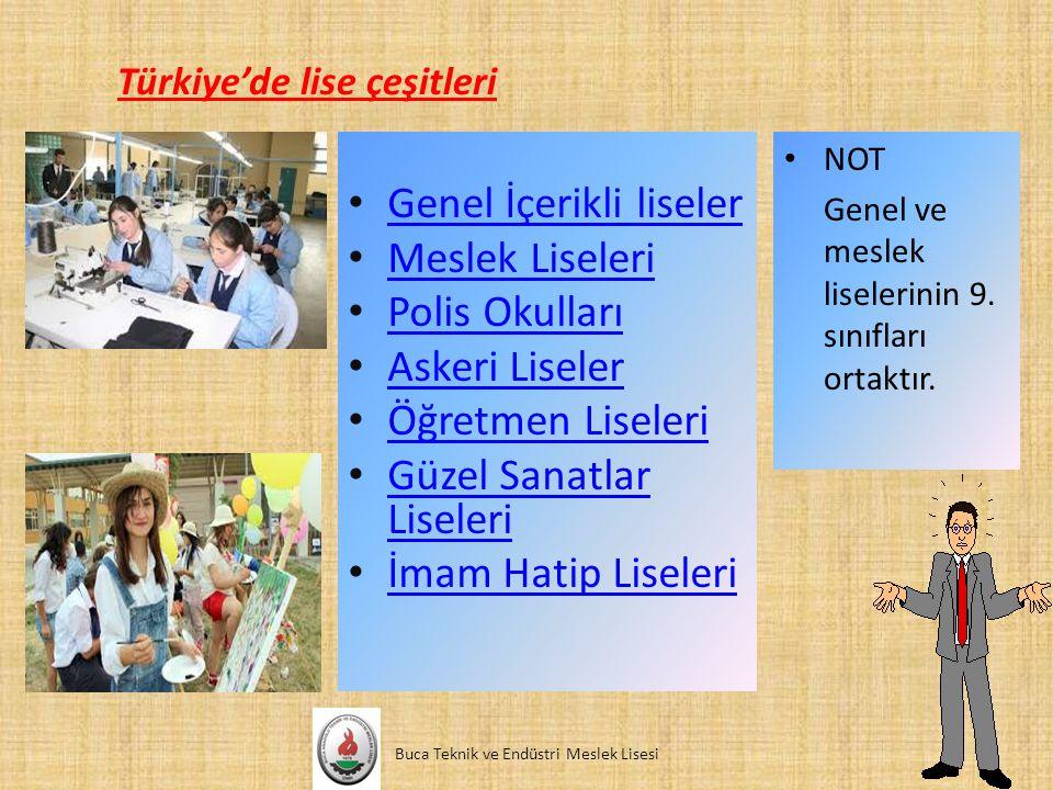 Türkiye'de lise çeşitleri