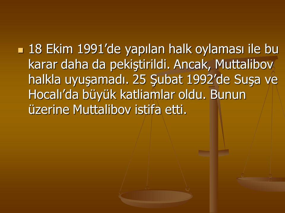 18 Ekim 1991'de yapılan halk oylaması ile bu karar daha da pekiştirildi.