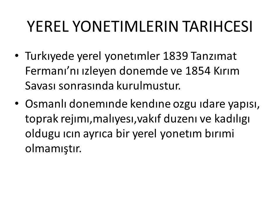 YEREL YONETIMLERIN TARIHCESI