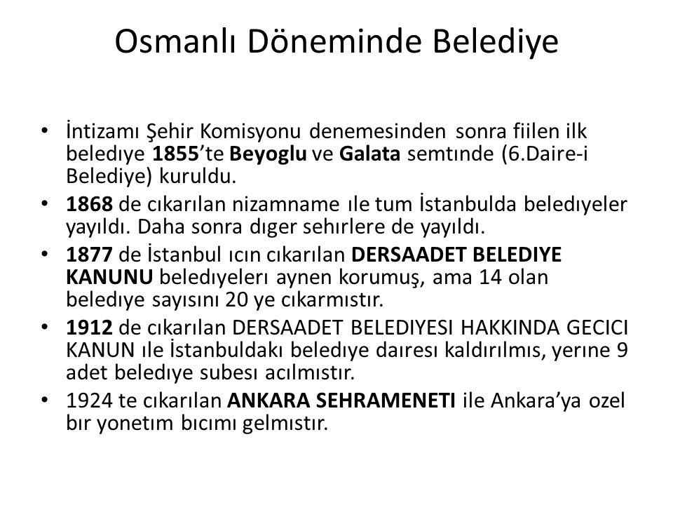 Osmanlı Döneminde Belediye