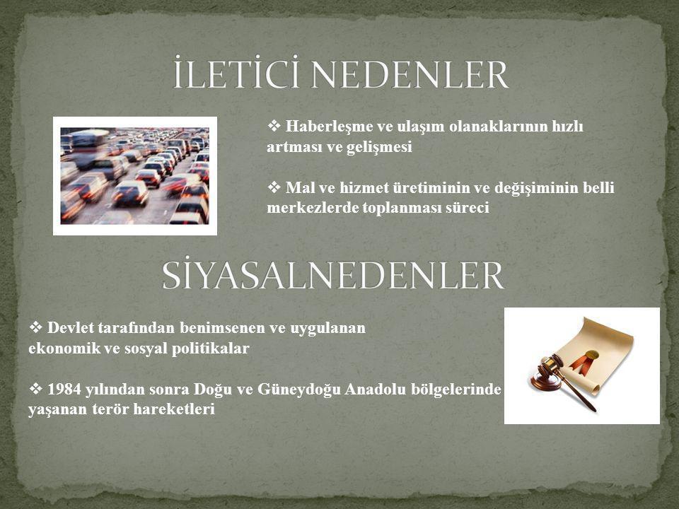 İLETİCİ NEDENLER SİYASALNEDENLER