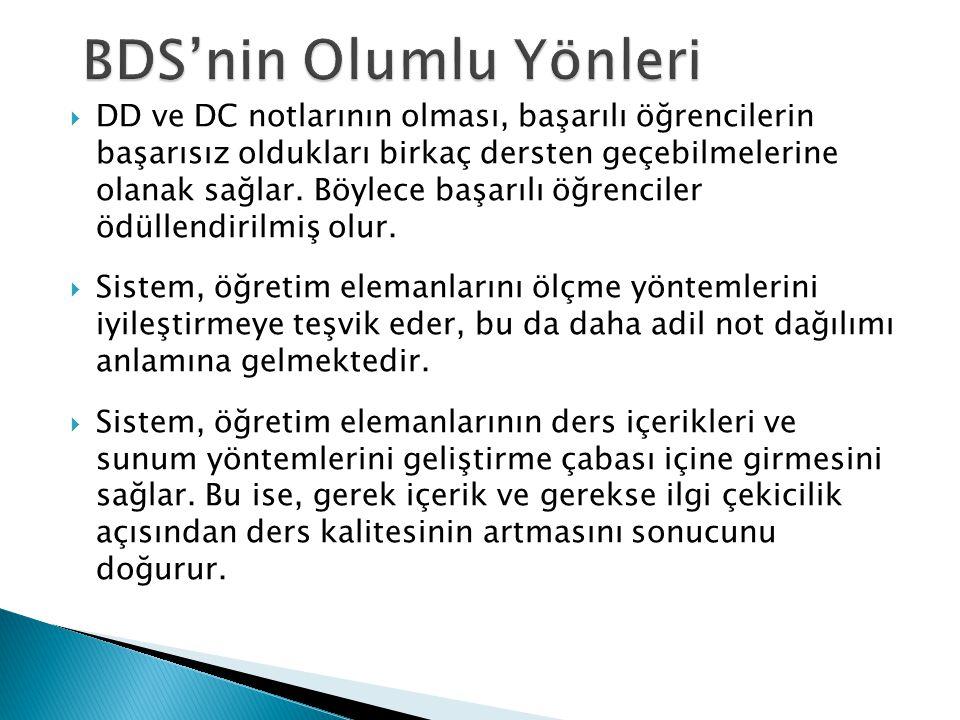 BDS'nin Olumlu Yönleri