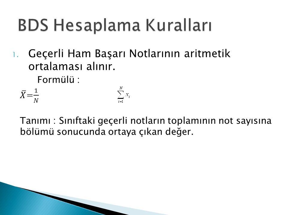 BDS Hesaplama Kuralları