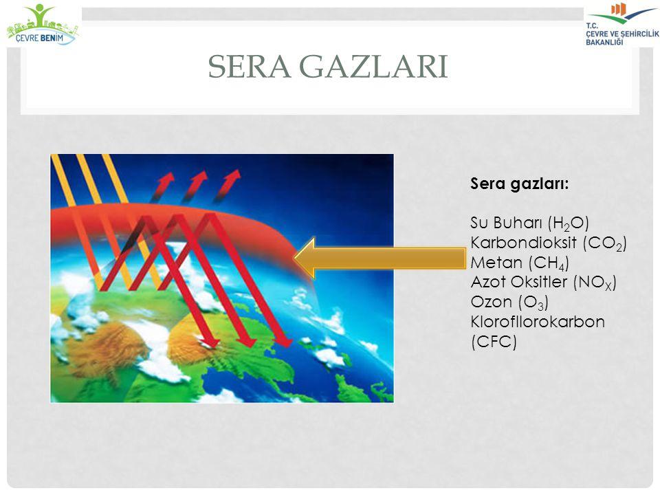 Sera gazlarI Sera gazları: Su Buharı (H2O) Karbondioksit (CO2)