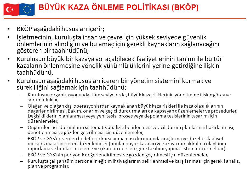 BÜYÜK KAZA ÖNLEME POLİTİKASI (BKÖP)