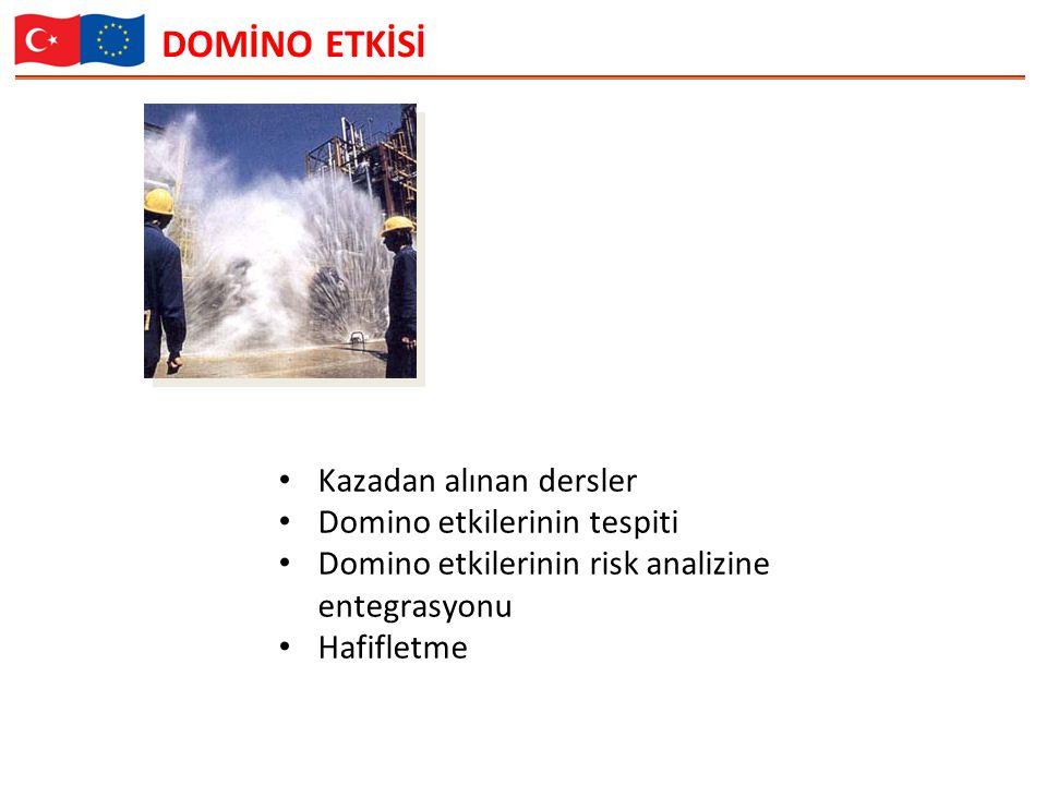 DOMİNO ETKİSİ Kazadan alınan dersler Domino etkilerinin tespiti