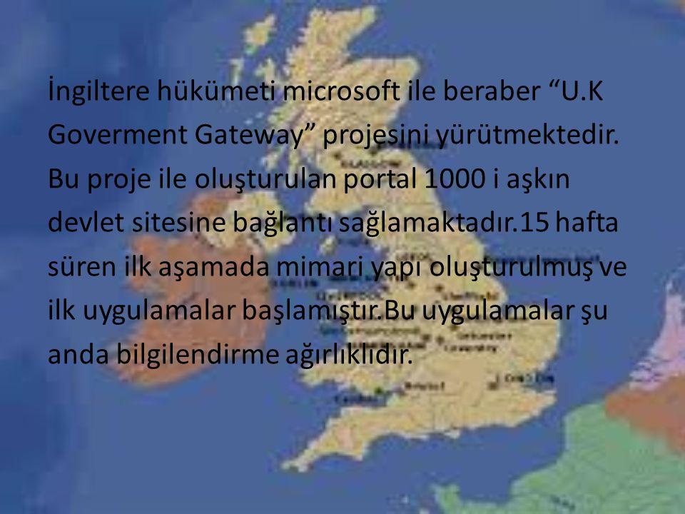 İngiltere hükümeti microsoft ile beraber U
