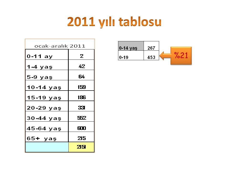 2011 yılı tablosu %21