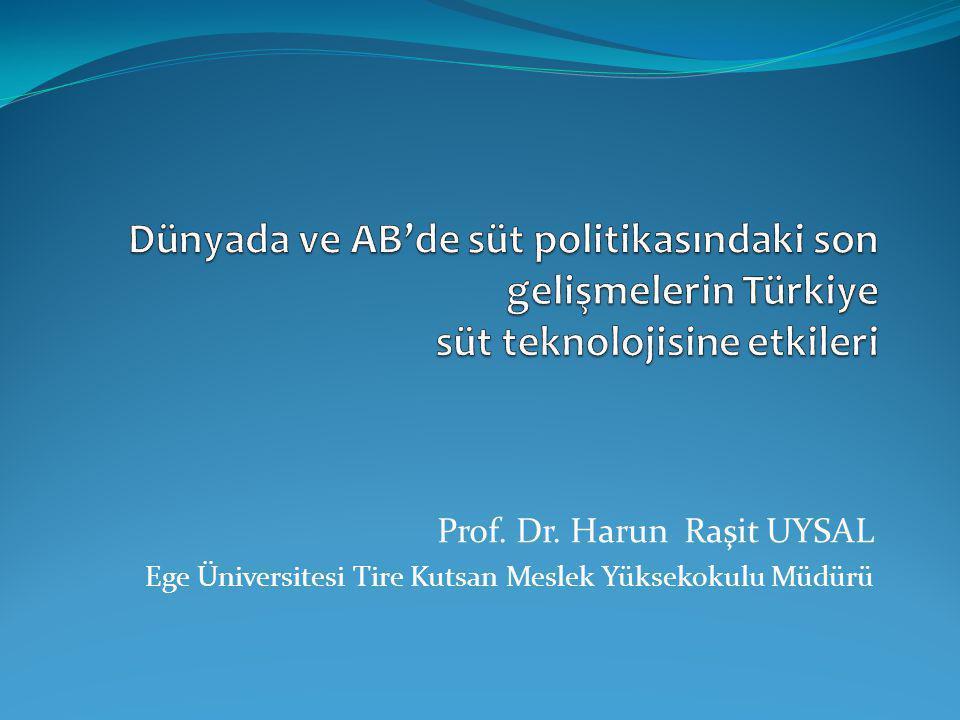 Dünyada ve AB'de süt politikasındaki son gelişmelerin Türkiye süt teknolojisine etkileri
