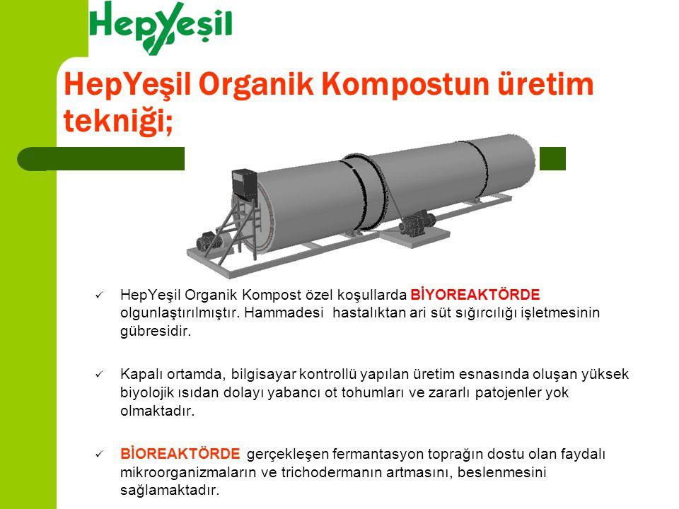 HepYeşil Organik Kompostun üretim tekniği;