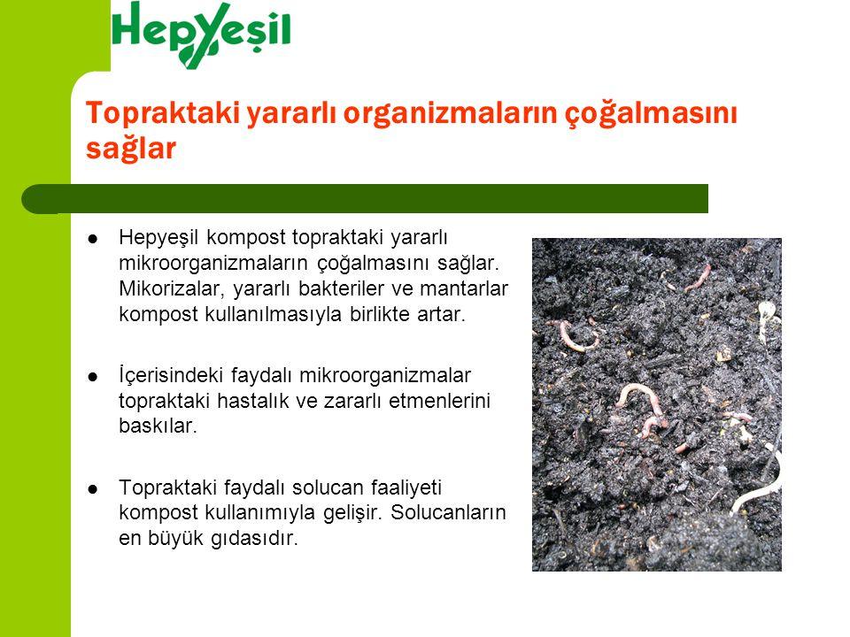 Topraktaki yararlı organizmaların çoğalmasını sağlar