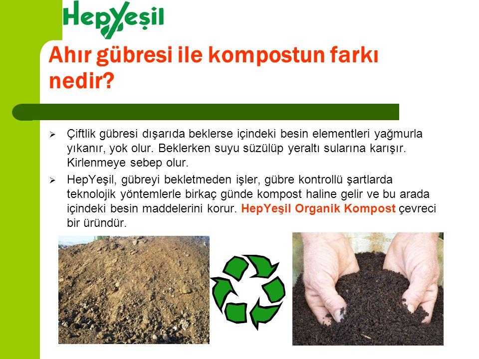 Ahır gübresi ile kompostun farkı nedir