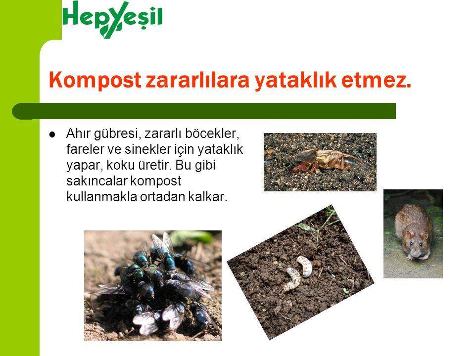 Kompost zararlılara yataklık etmez.