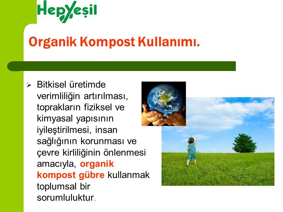 Organik Kompost Kullanımı.