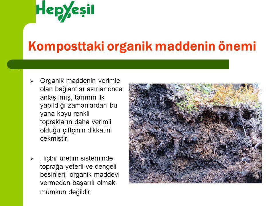 Komposttaki organik maddenin önemi