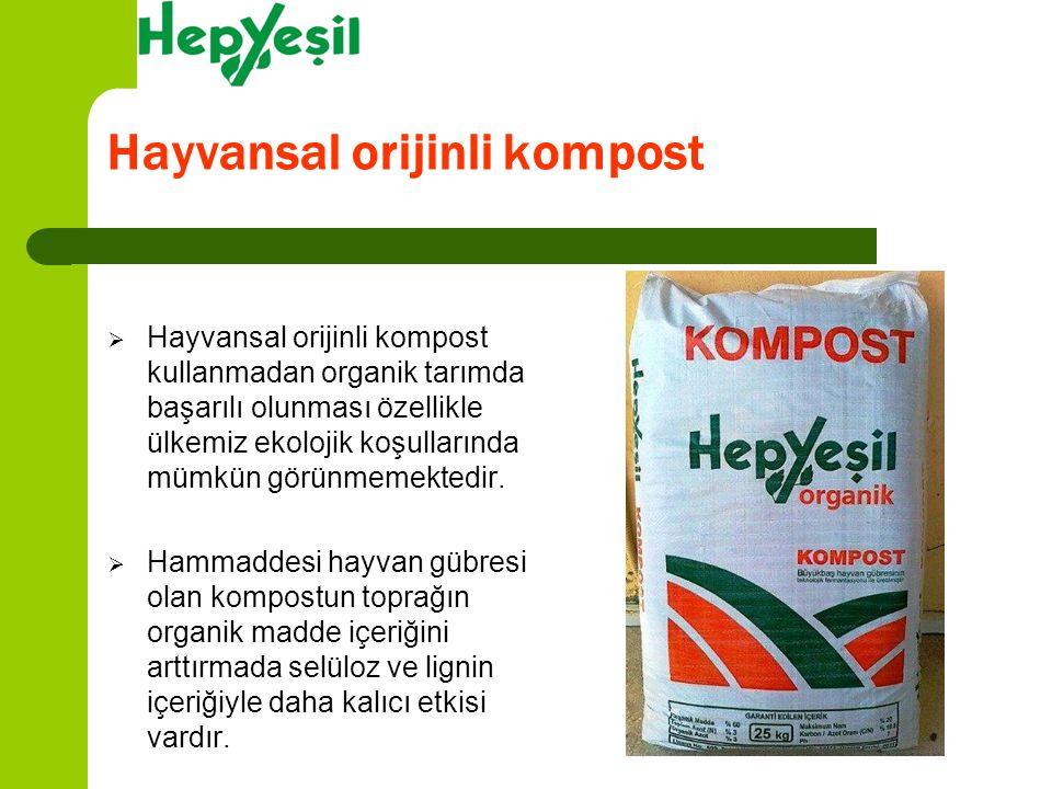 Hayvansal orijinli kompost