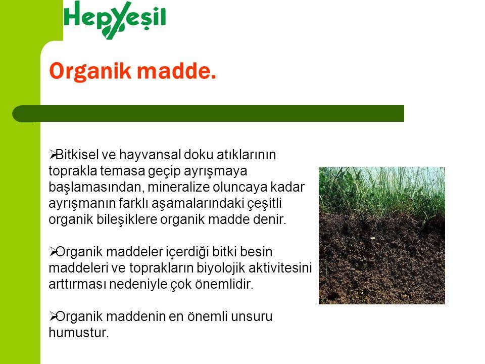 Organik madde.